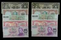 Mexico, Argentina & Uruguay Sequential Notes Lot 5 Sets of 2 notes