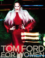 2011 ICONIC ONE of a KIND TOM FORD BLACK ASO in RED backless tulle silk dress