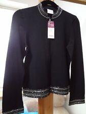NEXT PETITE  Black beaded zip through cardigan/jacket  S8 BNWT RRP £39.99