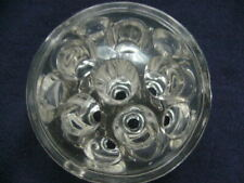 Vintage Clear Glass Floral Frog Domed 11 Holes Wow!