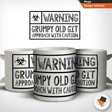 Warning Grump Old Gift Approach With Caution Funny Gift Dad Grandad Uncle Mug