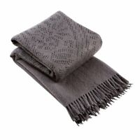 Stunning Luxury Christy Lace Charcoal Throw Blanket NWT 130cm x 170cm RRP £120