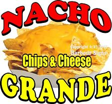 Nacho Grande Decal (Choose Your Size) Food Truck Concession Vinyl Sticker