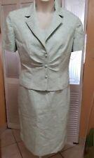 Danny & Nicole Mint Green Dress & Matching Jacket - Size 14