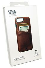Sena Lugano Cover Case For Apple iPhone 7 / 8 Plus + Wallet Card Holder - Brown