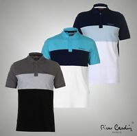 Mens Pierre Cardin Three Panel Style Polo Shirt Regular Top Sizes from S to XXXL