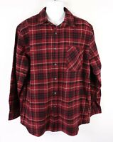 New Anchorage Heavy Flannel Shirt Mens XL Red Black Plaid Brawny