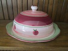 FRANCISCAN APPLE PIE- COVERED CAKE PLATE -  NEW -1004B