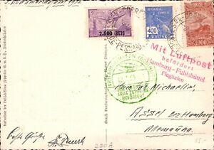 Zeppelin Flug - Südamerokafahrt 1933 ab Pernambuco Brasilien, Ansichtskarte