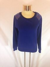Women's I LOVE H81 - Forever 21 Dark Purple/Blue Sweater With Sequin Detail (S)