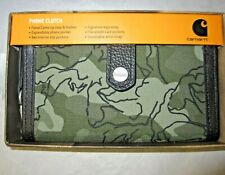 CARHARTT Olive Floral CAMO Phone Clutch Wristlet Wallet NIB Expandable