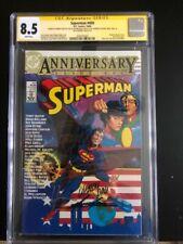 Superman 400 CGC 8.5 signed x5  Miller / Steranko / Chaykin / Grell / Pini - HOT