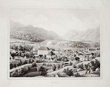 c1840 Slowenien Slovenija Töplitz Toplice Lithographie-Gesamtansicht