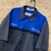 "Red Kap Workwear Work Short Sleeve Shirt Grey Blue USA Size XL ""SUBARU"""