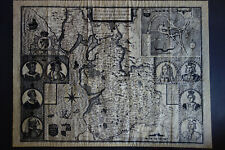 LANCASTER/LANCASHIRE MAP JOHN SPEED 1610 - COUNTIE PALLATINE