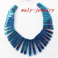 Q-73 Beautiful 41pcs Blue Hematite Gemstone Pendant Bead set