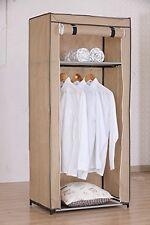 pliable penderie textilkleiderschrank garde-robe pliante 70x46x150 cm beige