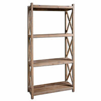 Reclaimed Pine Wood Etagere Book Shelf| Rustic Cottage Loft Minimalist Standing