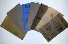 "Wet Dry Sandpaper 6 Sheets (9"" x 11"") 1 x 100,120,150,220,280,320 Grit"