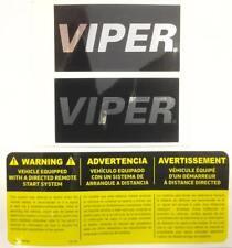 VIPER CAR ALARM WINDOW DECALS SECURITY STICKERS + REMOTE START EMBLEM AUTHENTIC