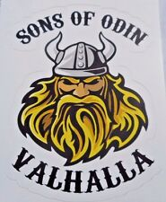 "Sons Of Odin Valhalla Sticker Viking Decal New 3"" x 4"" Norse God"