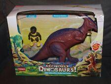 BOXED Vintage PLAYSKOOL Definitely Dinosaurs! FIGURES Romur & Parasaurolophus