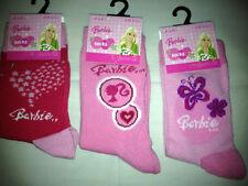 Lot 3 paires de chaussettes Barbie enfant filles taille 23/26 neuves REF01