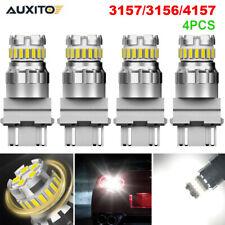 4X Auxito 3157 3156 Led Backup Reverse Light Bulbs 6500K White Error Free Lamps (Fits: Neon)