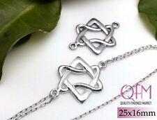 3pcs Magen David - Star of David - Jewish Star - Pendant Sterling Silver 925