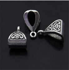 PJ182 20pcs Tibetan Silver Charms Pendant Hanger Bails Necklace Connector BEADS