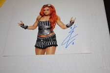 Wwe Women'S Divas Smackdown Star Becky Lynch Signed Auto 11X14 Photo Solo Pose