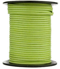 Xsotica® Lime Green Round Leather Cord 2.0mm 10 meters (11 yards)