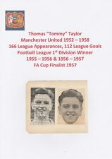 TOMMY TAYLOR MANCHESTER UTD 1952-58 V RARE ORIGINAL HAND SIGNED MAGAZINE CUTTING