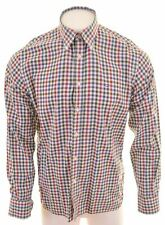 TOMMY HILFIGER Mens Shirt Large Multicoloured Check Cotton Custom Fit  KF13