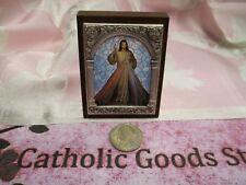 Divine Mercy Italian Standing Plaque - 2 x 2.5 inches