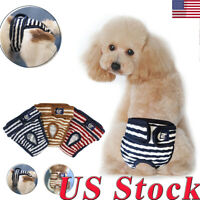 US Pet Dog Physiological Pants Diaper Panties Washable Underwear For Female Dog