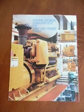 c.1980 Caterpillar Diesel Electric Generator Set Catalog Brochure Vintage ORIG.