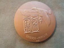 ancienne médaille - jeton en bronze unesco 1975