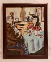 """The Lunch"" Original Contemporary Modern Painting On Canvas By K.A.Davis Art"