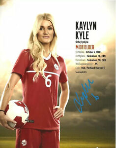 KAYLYN KYLE signed 8X10 Photo Autograph Soccer Canada Canadian Pride EXACT PROOF