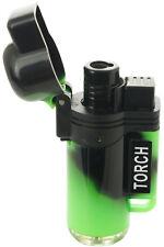 Jet Torch Lighter Tie dye Adjustable Windproof Butane Refillable Green Color 39