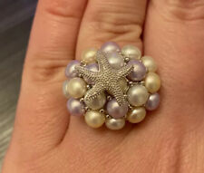 Honora Pearl Ring With Silver Starfish Size 7