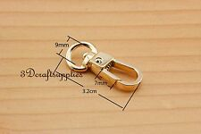 Lobster Clasps Clips Claw purse hooks Swivel snap hook gold 9 mm 10pcs AT94