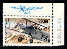 FRANCE Poste aérienne  COIN de FEUILLE DATE: 8/6/98, PA 62a neuf xx LUXE.