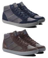 GEOX RESPIRA BOX U84R3E scarpe uomo sneakers alte pelle camoscio stringhe casual