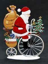 """ARTIST WILHELM SCHWEIZER GERMAN ZINNFIGUREN - Peddling Santa (3.25""""x 4.5"""")"""