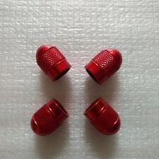 4pcs Red aluminum alloy bullet tire rim valve / wheel air port cover valve caps