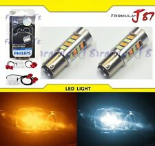 LED Switchback Light 2835 White Amber 1157 Two Bulbs Resistor Front Signal DRL