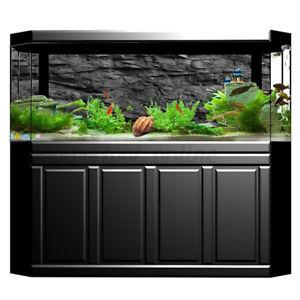 3D Effect Black Stone Aquarium Background Fish Tank Landscape Adhesive Poster UK