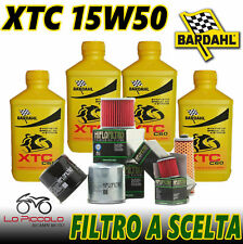 4 Litri OLIO Bardhal Xtc C60 15w50 Olio Moto 4T Full Sintetico + Filtro HiFlo